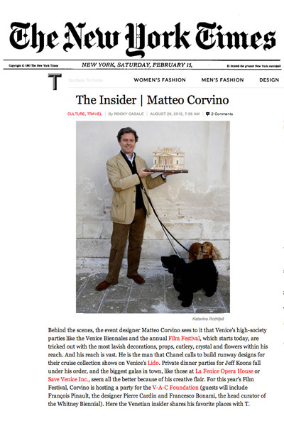 Matteo Corvino - New York Times